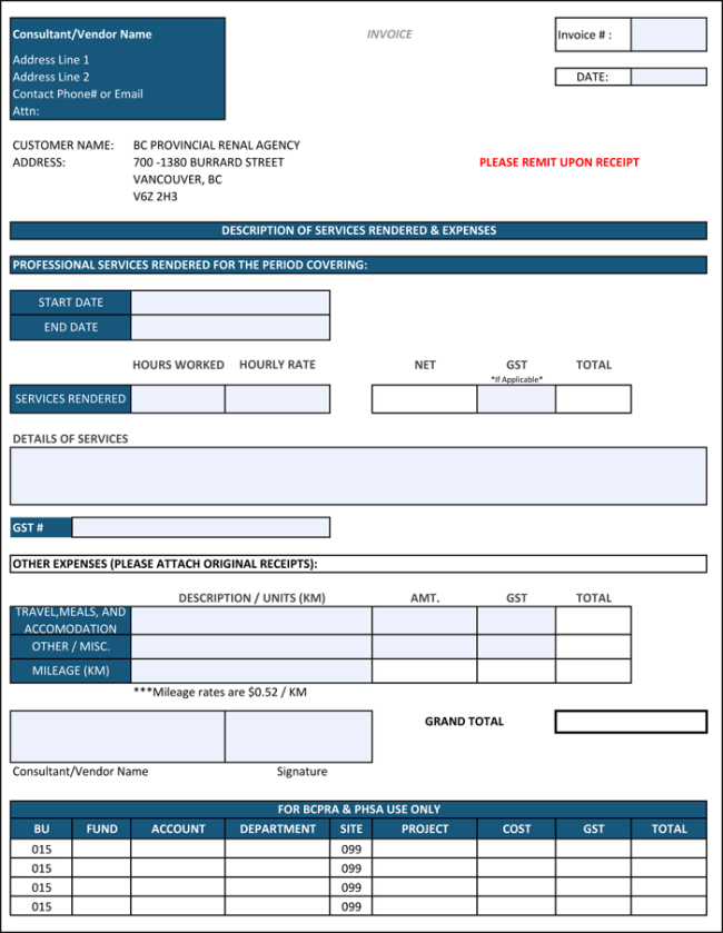 10 Free Construction Invoice Templates Excel Word