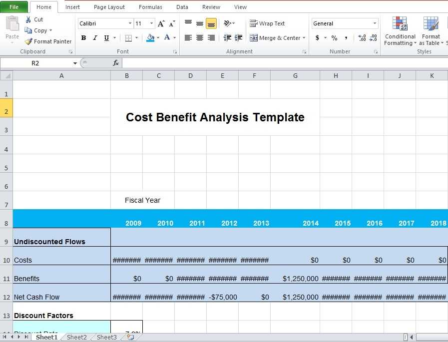 Download Business Cost Benefit Analysis Template For