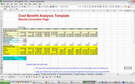 Cost Benefit Analysis Template Free Download And