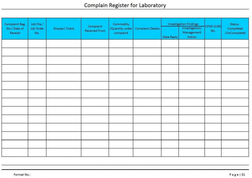 Complaints Spreadsheet Template Inside Complaint Log Sheet