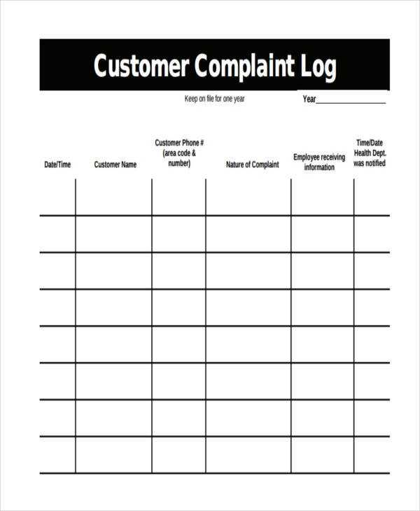 FREE 33 Sample Log Templates In PDF MS Word