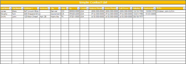 32 FREE Customer Contact List Templates Word Excel PDF