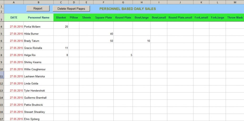 Daily Sales Report With Excel VBA Computer Software World