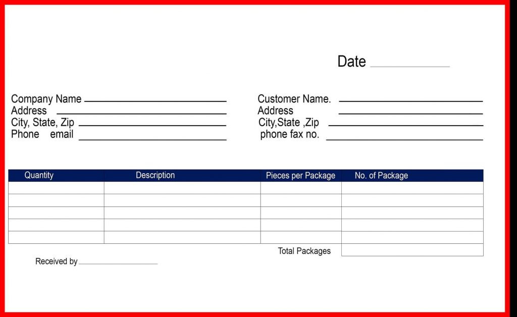 Free Delivery Receipt Template PDF Word Doc Excel