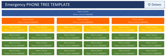Phone Tree Template For Word And Excel Dotxes