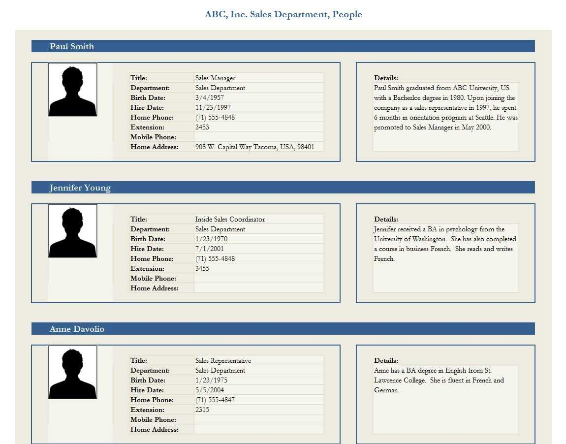 Employee Profile Template Employee Profile Form Template