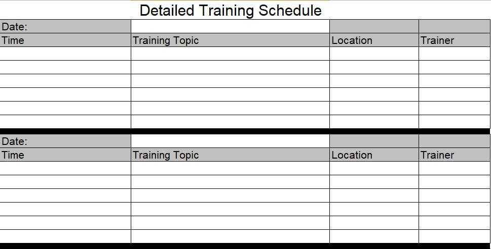 Download Employee Training Schedule Template For Company