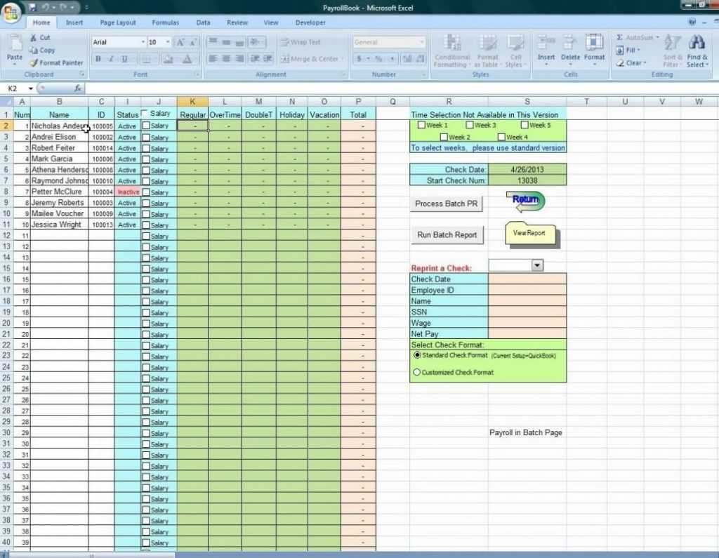 Vacation Accrual Spreadsheet In Excel