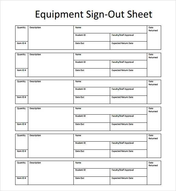 FREE 13 Sign Out Sheet Templates In PDF MS Word Excel