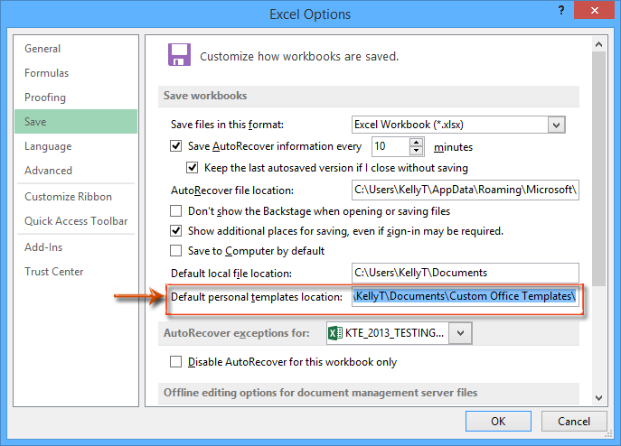 How To Find And Change Default Save Location Of Excel