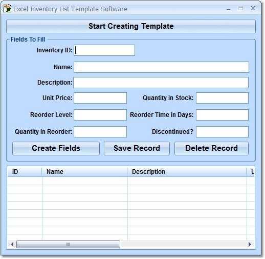 Excel Inventory List Template Software Free Download And