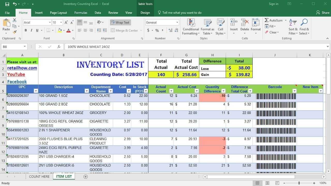 How To Count Inventory Using Only Excel Barcode Scanner