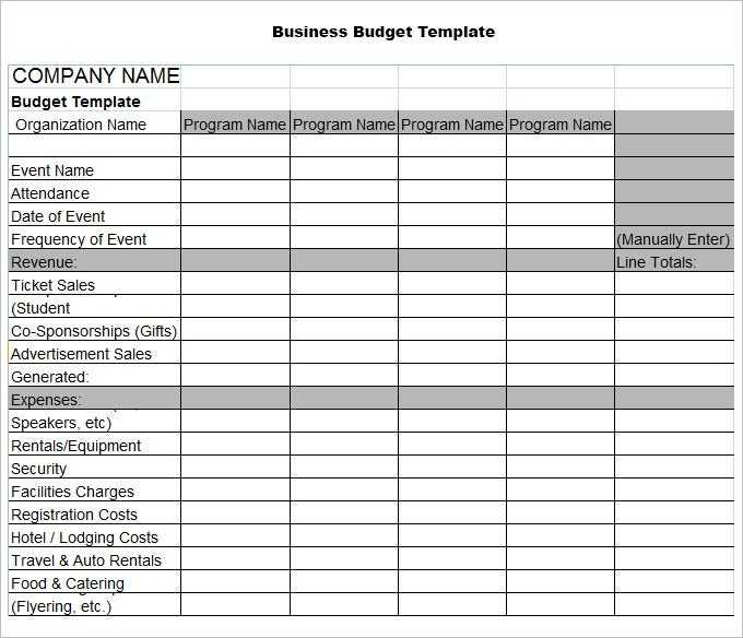 8 Business Budget Templates Word Excel PDF Free