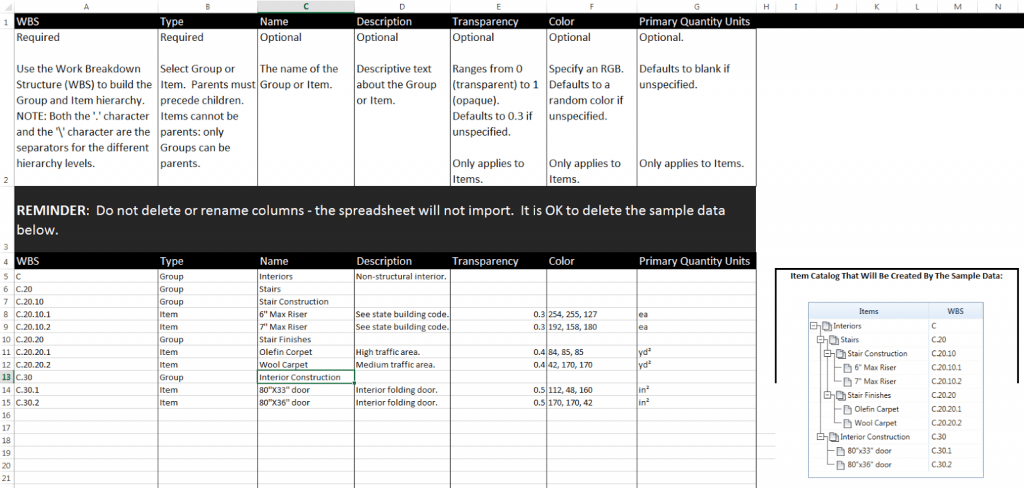 Excel Template For Download Navisworks Quantification