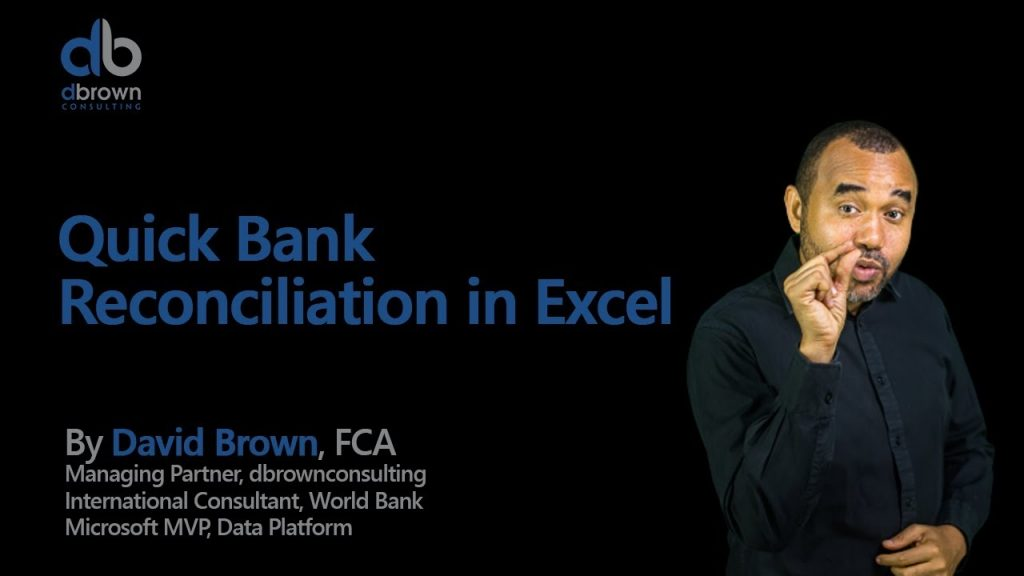 Excel Tutorial Quick Bank Reconciliation In Excel YouTube