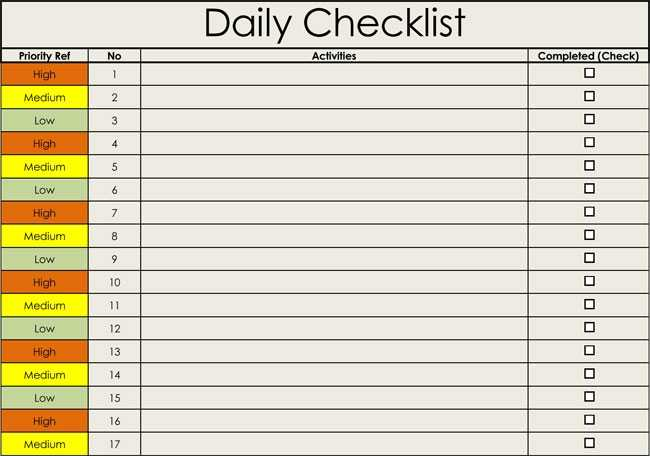 Checklist Templates Free Printable Checklists For Word