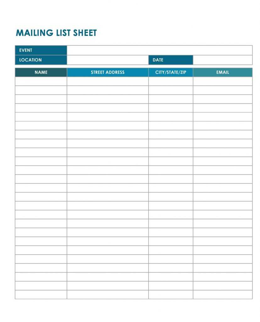 37 Free Email List Templates PDF MS Word Excel