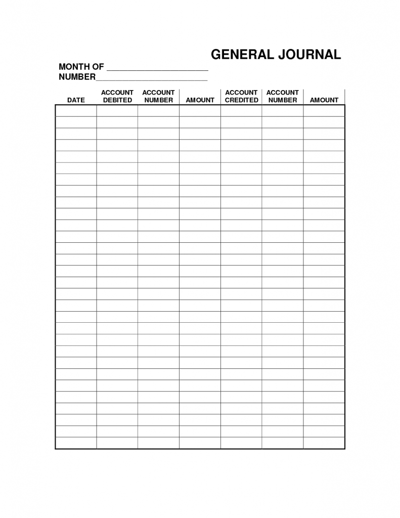 4 Free General Journal Templates Word Excel PDF Formats