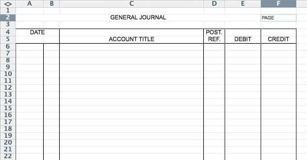 5 General Journal Templates Formats Examples In Word Excel