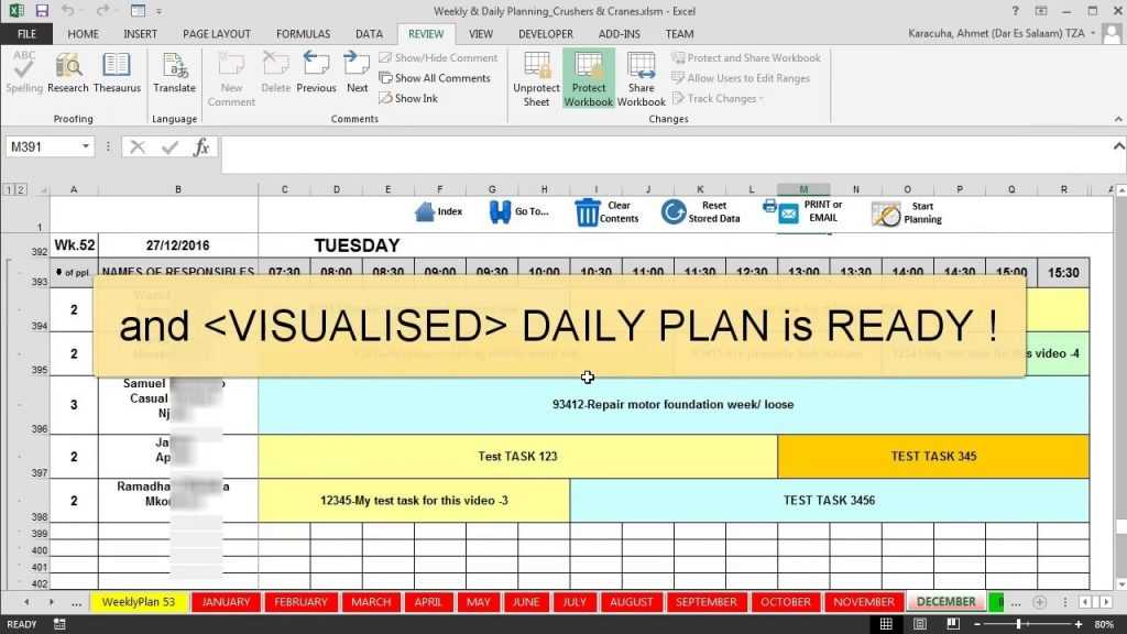 Features Maintenance Planning And Scheduling Excel