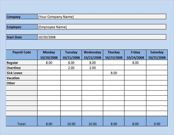 FREE 17 Sample Payroll Timesheet Templates In Google Docs