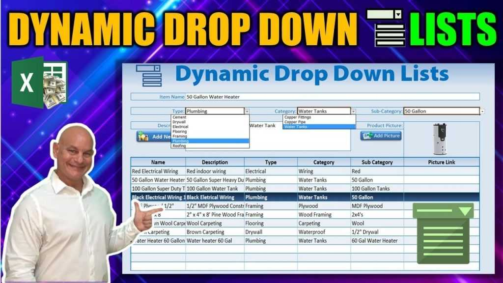 How To Create Dynamic Drop Down Lists In Excel YouTube