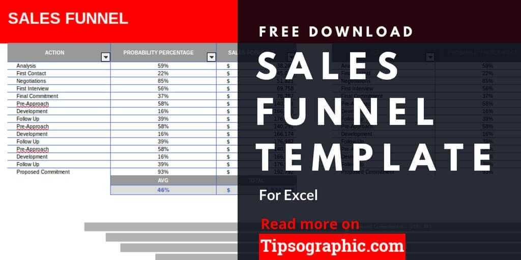 Sales Funnel Template For Excel Free Download Tipsographic