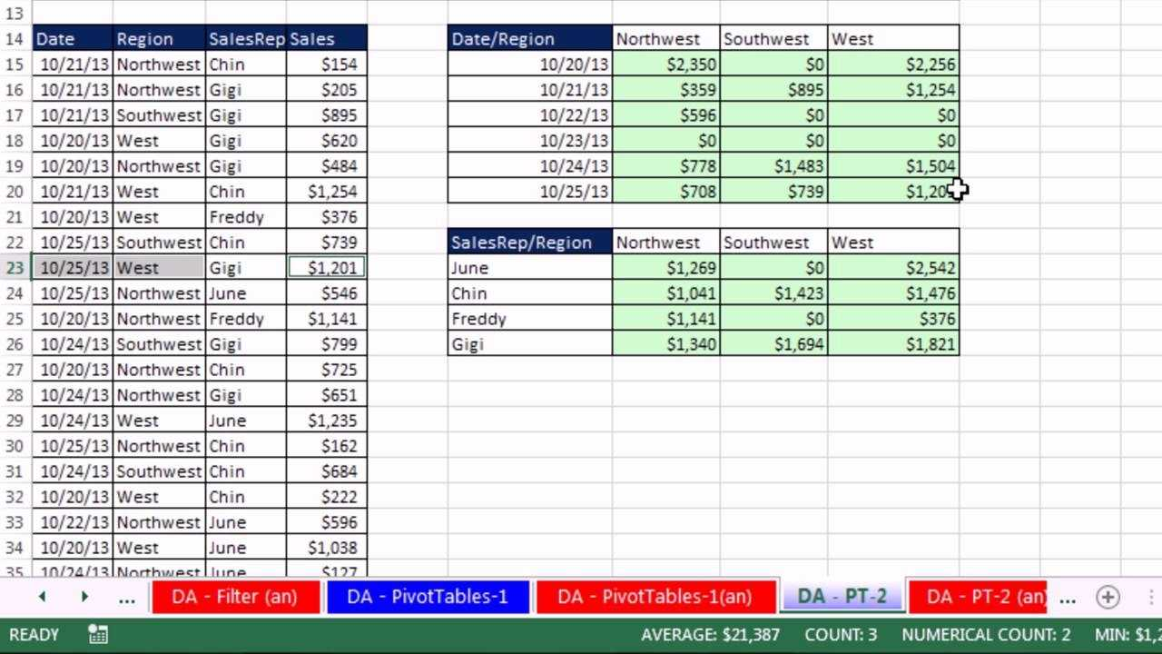 Excel 2013 Statistical Analysis 01 Using Excel