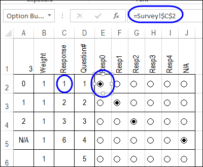 Calculate Survey Scores With Excel Option Buttons