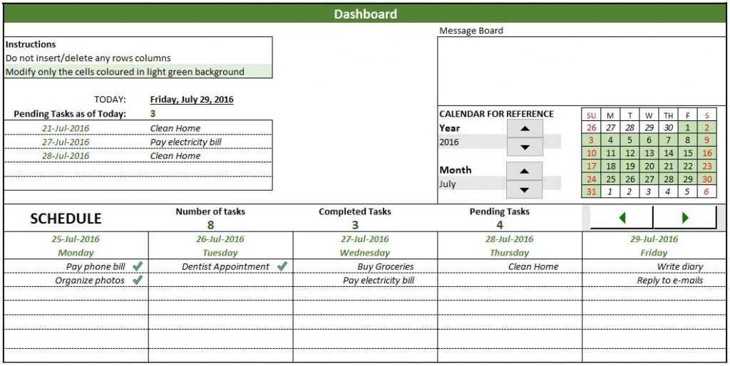 Free To Do List Template In Excel To Create Manage Tasks