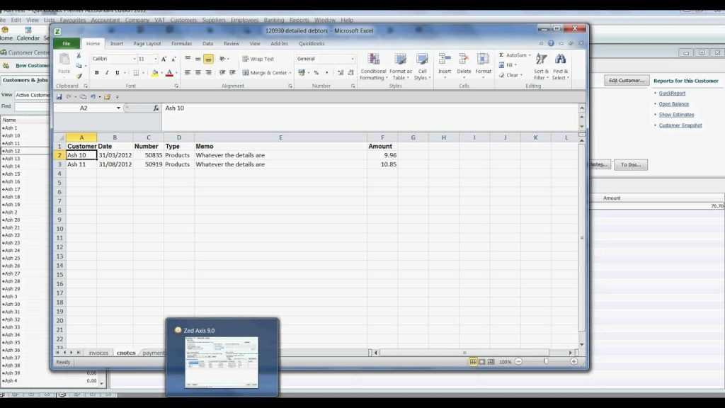 Importing Invoices From Excel To QuickBooks YouTube
