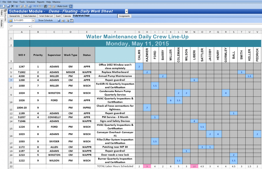 Excel Spreadsheet Template For Scheduling Excelxo