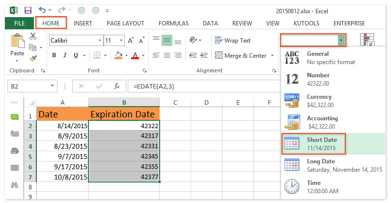 How To Calculate Expiration Dates In Excel