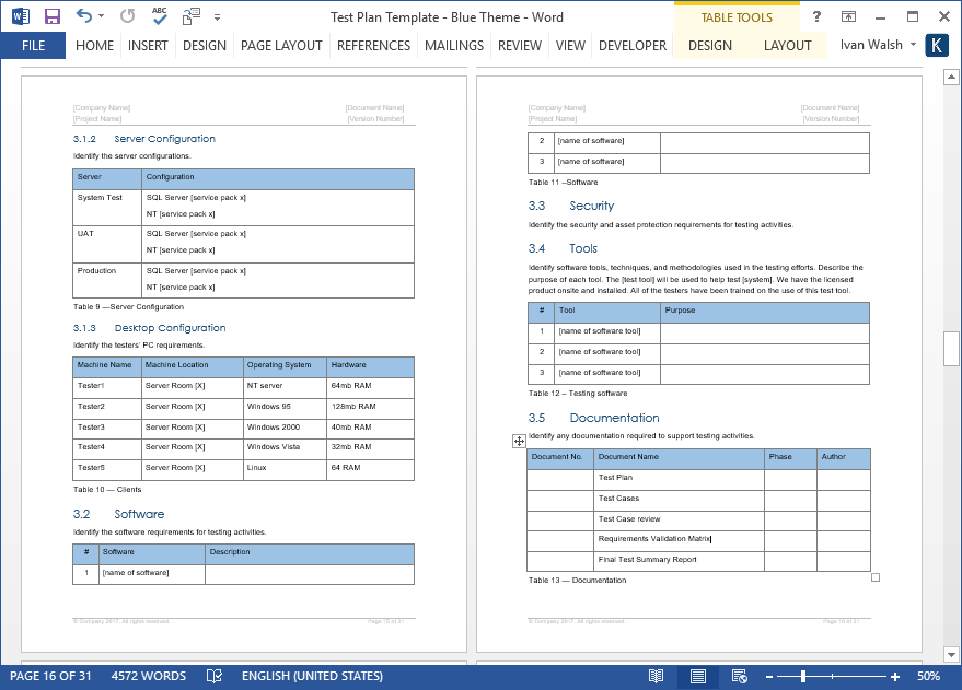Test Plan Templates MS Word Excel Templates Forms