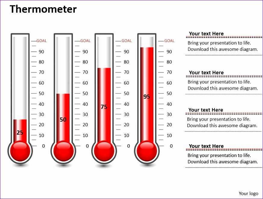 7 Thermometer Template Excel Excel Templates Excel