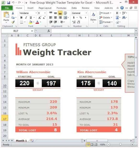 5 Weight Loss Challenge Spreadsheet Templates Word Excel