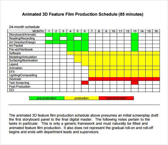 FREE 12 Sample Shooting Schedules In PDF MS Word Excel