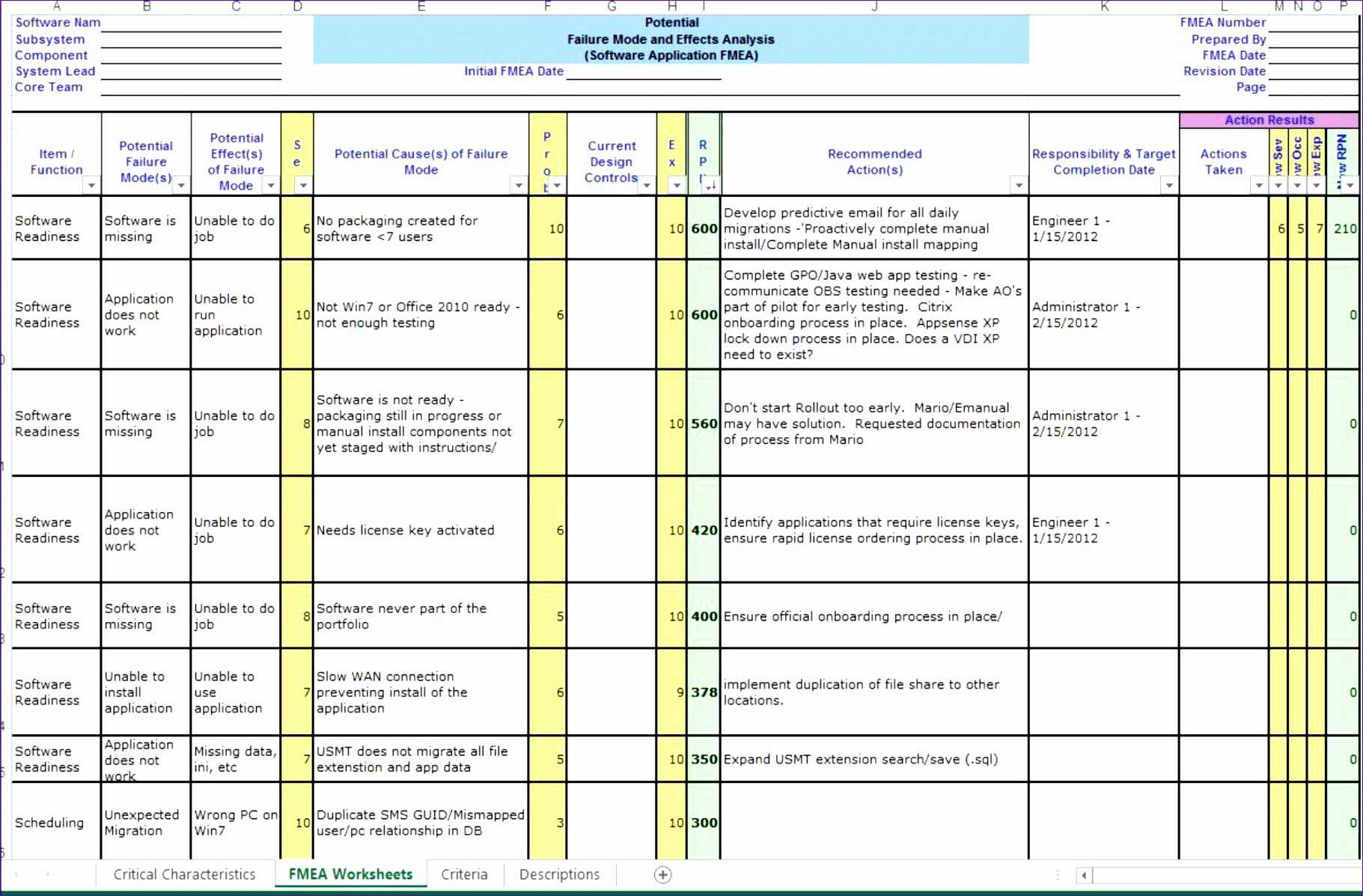 8 Fmea Template Excel Free Excel Templates Excel Templates
