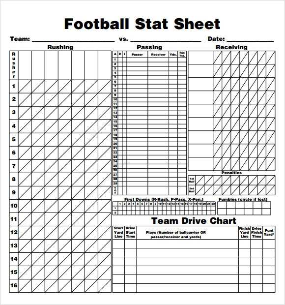 FREE 12 Sample Football Score Sheet Templates In PDF