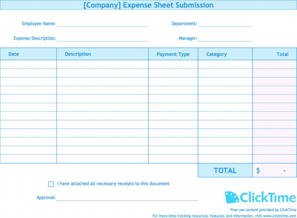 Expense Report Template Track Expenses Easily In Excel