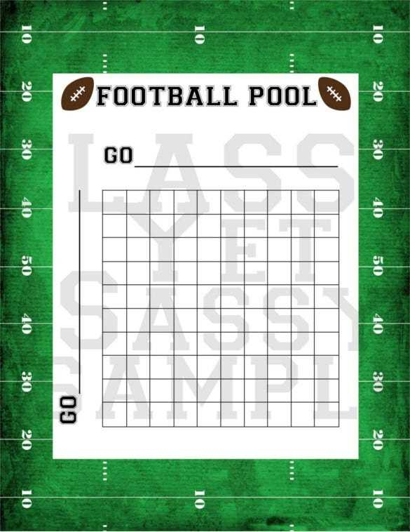19 Football Pool Templates Word Excel PDF Free