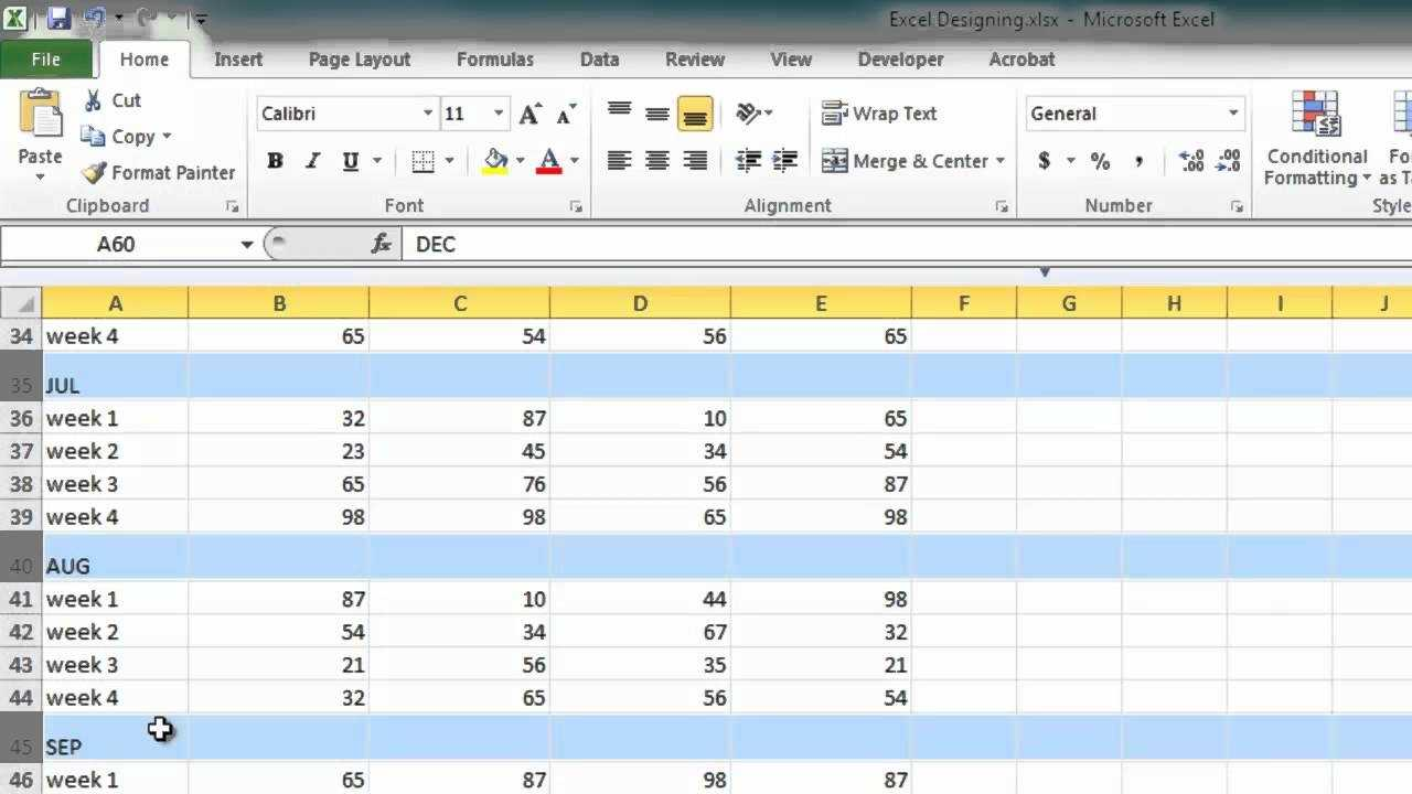 Designing Excel Spreadsheets YouTube