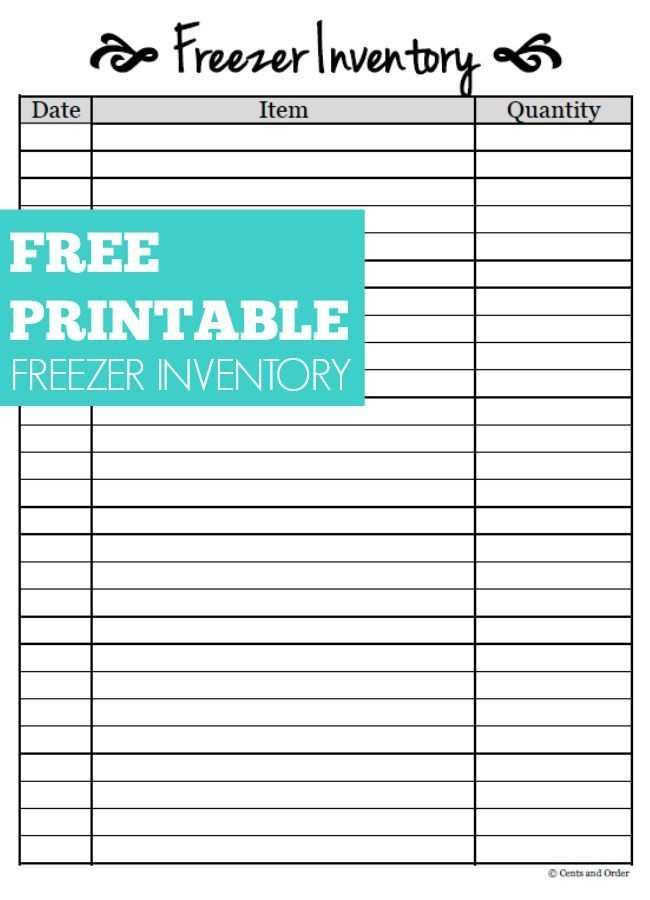 Free Printable Freezer Inventory Sheet Save Money And Eat