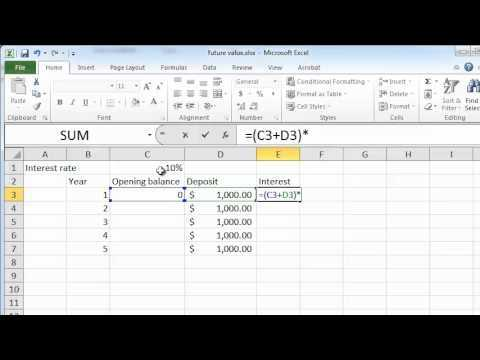 Calculating Future Value On Excel YouTube