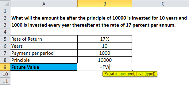 Future Value Formula Calculator Excel Template