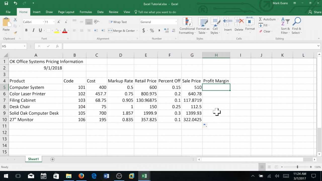 Creating A Sales Report In Excel Basic Level YouTube