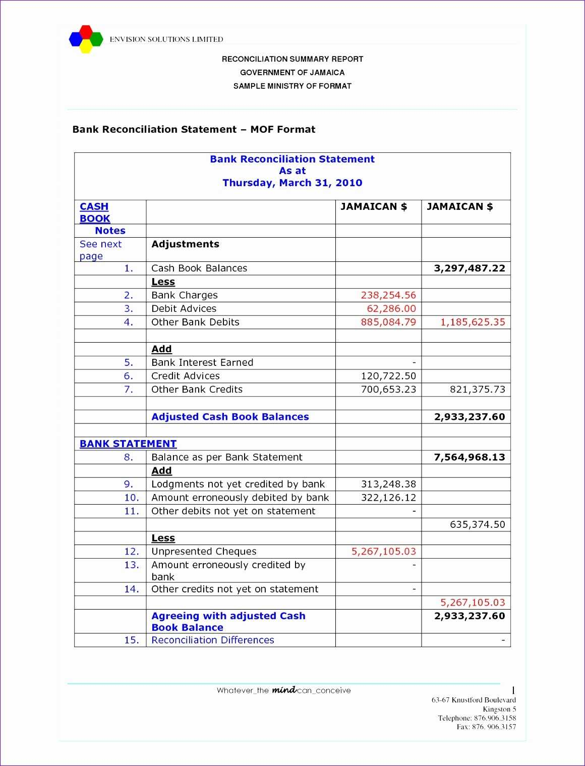 5 Account Reconciliation Template Excel Excel Templates