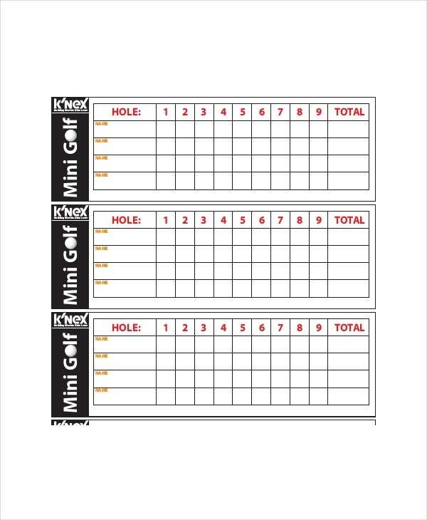12 Golf Scorecard Templates PDF Word Excel Free