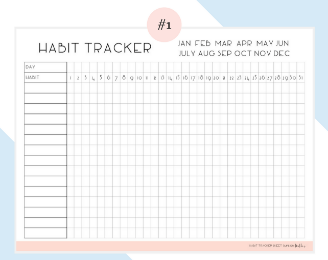 10 Useful Free Habit Tracker Printable Templates