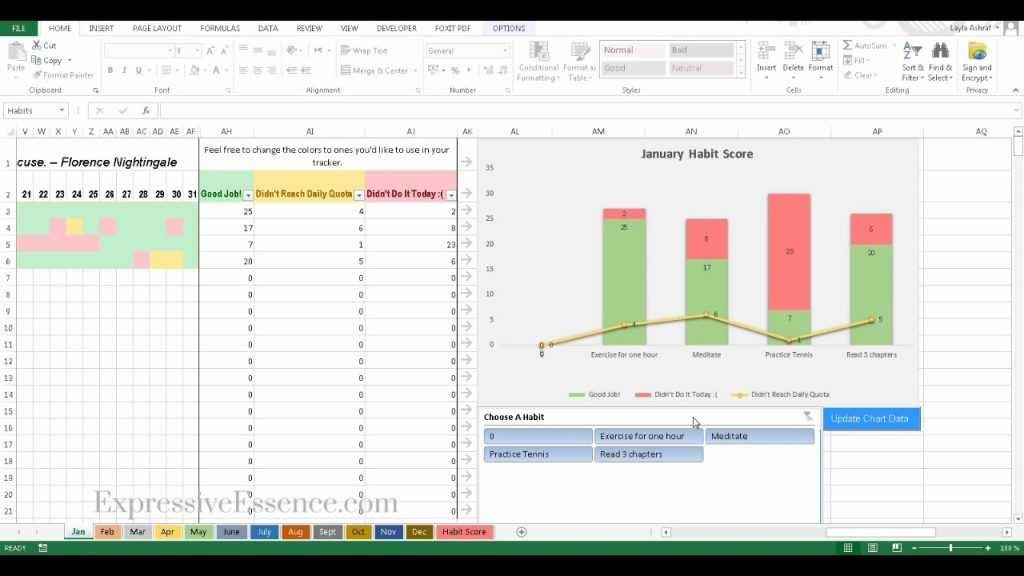 How To Track Your Goals With The BEST Excel Habit Tracker